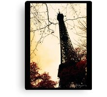 Chemical infrared photography Eiffel Tower Canvas Print