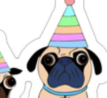 Party Pugs Sticker