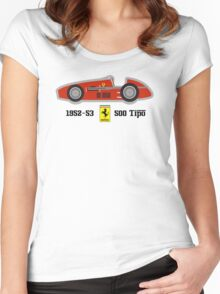 1952-53 Ferrari 500 Tipo, Double F1 championship winning car Women's Fitted Scoop T-Shirt