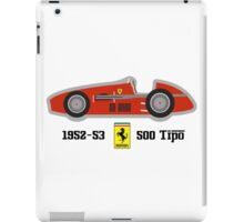 1952-53 Ferrari 500 Tipo, Double F1 championship winning car iPad Case/Skin