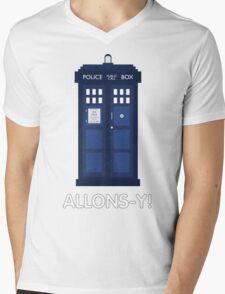 Doctor Who Police Call Box Mens V-Neck T-Shirt