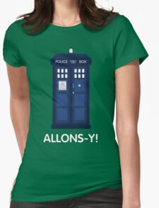 Doctor Who Police Call Box Womens Fitted T-Shirt