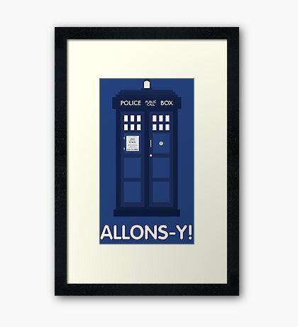 Doctor Who Police Call Box Framed Print