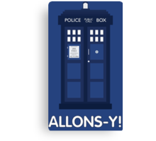 Doctor Who Police Call Box Canvas Print