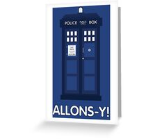 Doctor Who Police Call Box Greeting Card