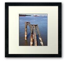 River Piers Framed Print