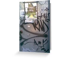 clifton hill tagging NYE 08 Greeting Card