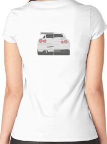 Evolution of Nissan Skyline Women's Fitted Scoop T-Shirt