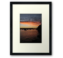 Sydney sunset NYE Framed Print