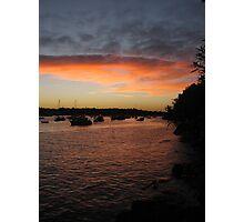 Sydney sunset NYE Photographic Print