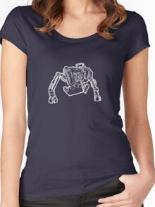 Tractor Golem (White) Women's Fitted Scoop T-Shirt