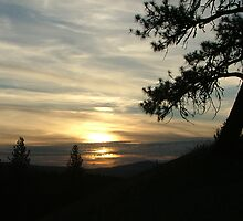 Sunset on a Bluff by Jeff Kalles