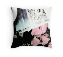 Cup Of Tulips Throw Pillow