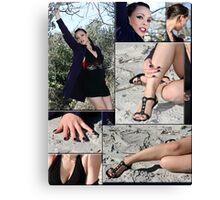 Collage Female Canvas Print