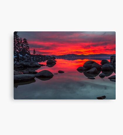 Sky on Fire - Lake Tahoe Canvas Print