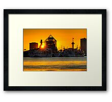 First sunrise of the New Year, 2009; Tokyo Bay, Japan Framed Print