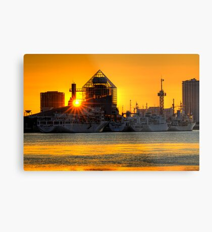 First sunrise of the New Year, 2009; Tokyo Bay, Japan Metal Print
