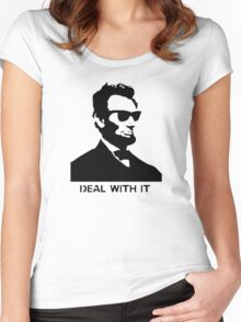 Cool Abe Lincoln - Deal With It (Clothing) Women's Fitted Scoop T-Shirt