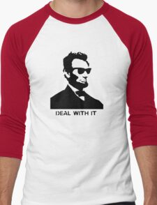 Cool Abe Lincoln - Deal With It (Clothing) Men's Baseball ¾ T-Shirt
