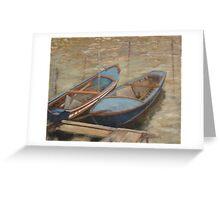 italian fishing boats Greeting Card