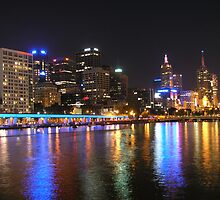 Colour my City - King St bridge, Melbourne by Deanna Roberts Think in Pictures
