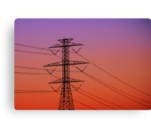 Electric Sunset Canvas Print