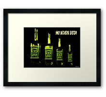 NWO Defense Mechanism Framed Print