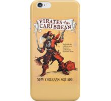 Pirates of the Caribbean Attraction Poster iPhone Case/Skin