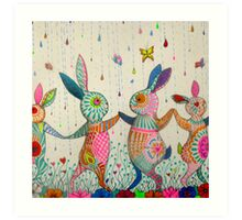 raving rabbits  Art Print