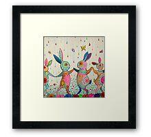 raving rabbits  Framed Print