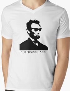 Cool Abe Lincoln - Old School Cool (clothing) Mens V-Neck T-Shirt