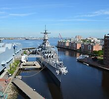 Aerial View of the USS Wisconsin by lookherelucy