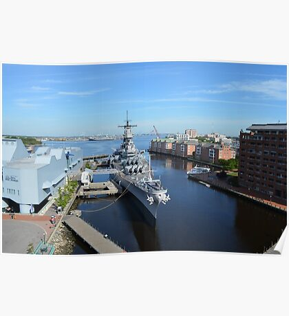 Aerial View of the USS Wisconsin Poster