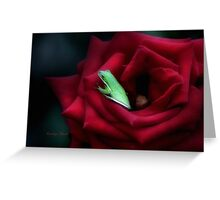 A Little Bed of Roses Greeting Card