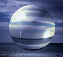 Blue Sea Hover Bubble © by Vicki Ferrari