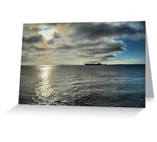 Ship on the Horizon Greeting Card