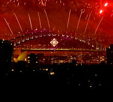 Sydney New Years Eve Fireworks 2009  by David Petranker
