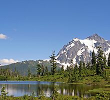 """Mount Shuksan and Picture Lake"" by Lynn Bawden"