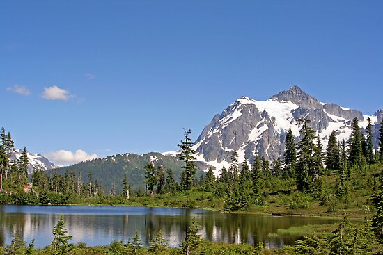 """Mount Shuksan and Picture Lake"" by Lynn Bawden"