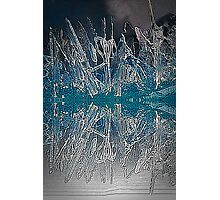 Ice Reflections Color Engraving Photographic Print