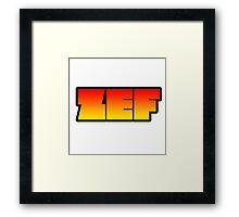 ZEF - Chappie Framed Print