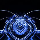electric blue spider by frequency