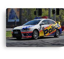 Victoria Police Mitsubishi EVO Canvas Print