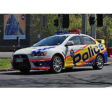 Victoria Police Mitsubishi EVO Photographic Print