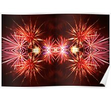 Reflections on Fireworks Poster