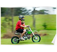 motor bike panning 2 Poster