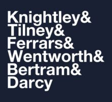 Men of Jane Austen Helvetica by JessLoring