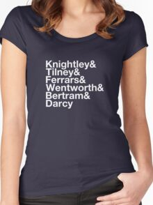 Men of Jane Austen Helvetica Women's Fitted Scoop T-Shirt