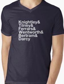 Men of Jane Austen Helvetica Mens V-Neck T-Shirt