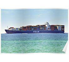 Container Ship off McCrea Poster